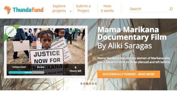 Mama Marikana Successful Thundafund Carosel