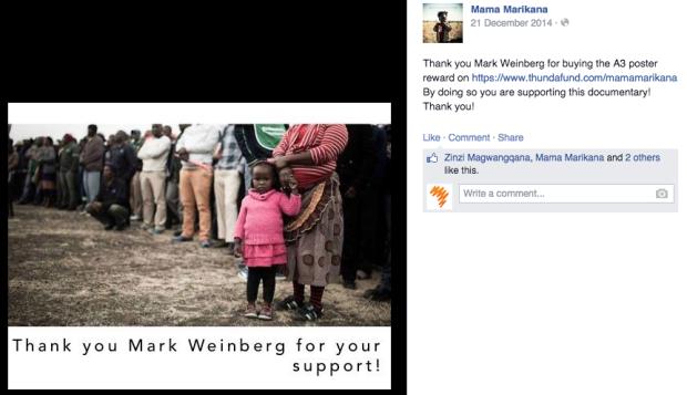 Mama Marikana Successful Thundafund Campaign: Thank Backers